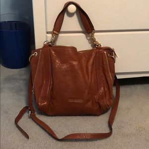 Luggage color leather Michael Kors purse